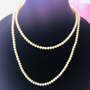 Vintage faux cream pearls